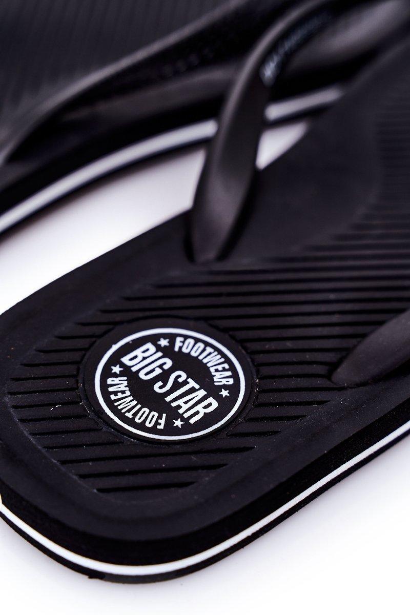 Men's Slippers Flip-Fops Big Star DD174669 Black