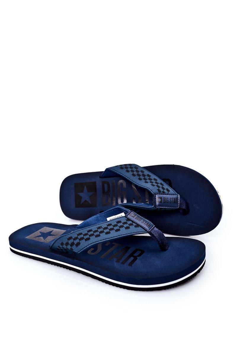 Men's Slippers Flip-Fops Big Star HH174812 Navy