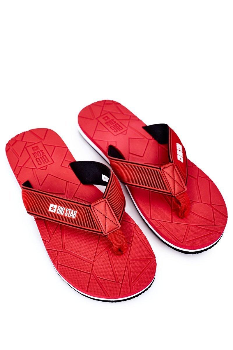 Men's Slippers Flip-Fops Big Star HH174819 Red