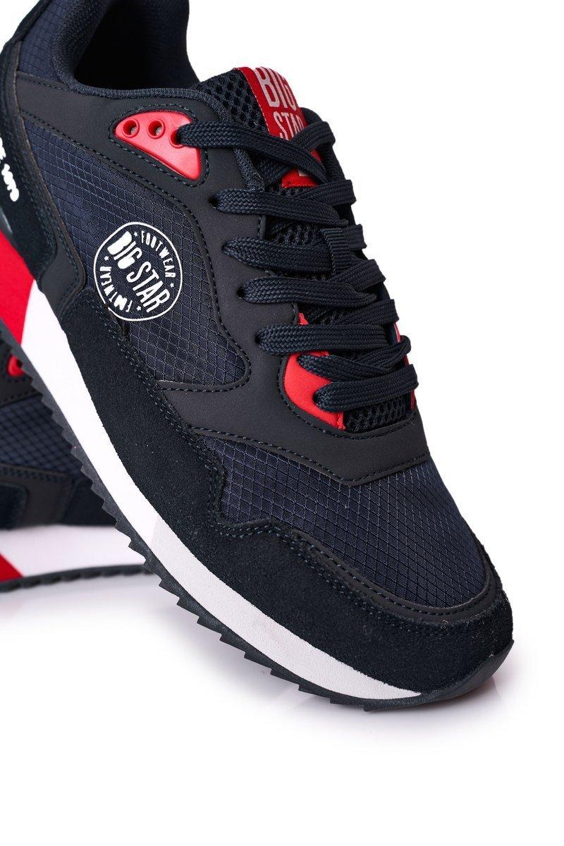 Men's Sport Shoes Memory Foam Big Star HH174240 Navy Blue