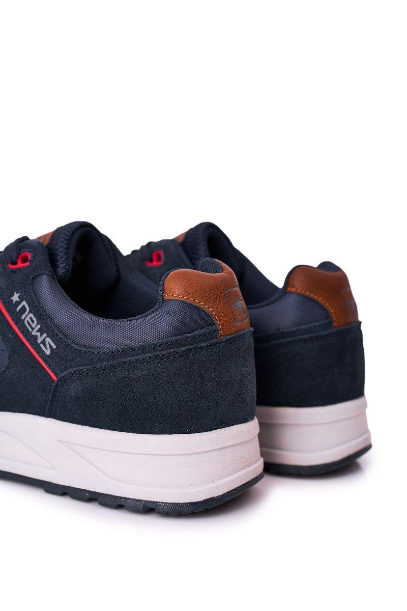 Men's Sports Shoes Sneakers Navy Blue Fabian
