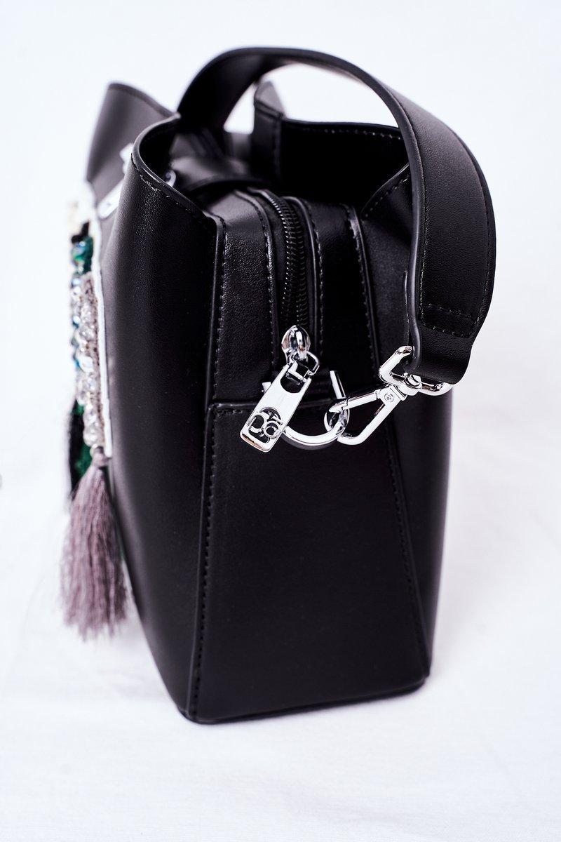 Messenger Bag With Fringes NOBO K2980 Black