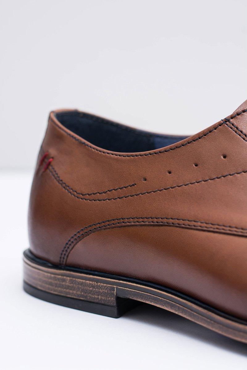 Nikopol Brown Leather Brogues Mens Shoes James
