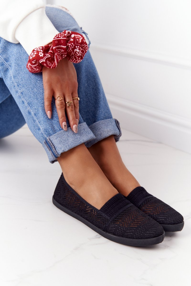 Openwork Slip-On Sneakers Black Chillout