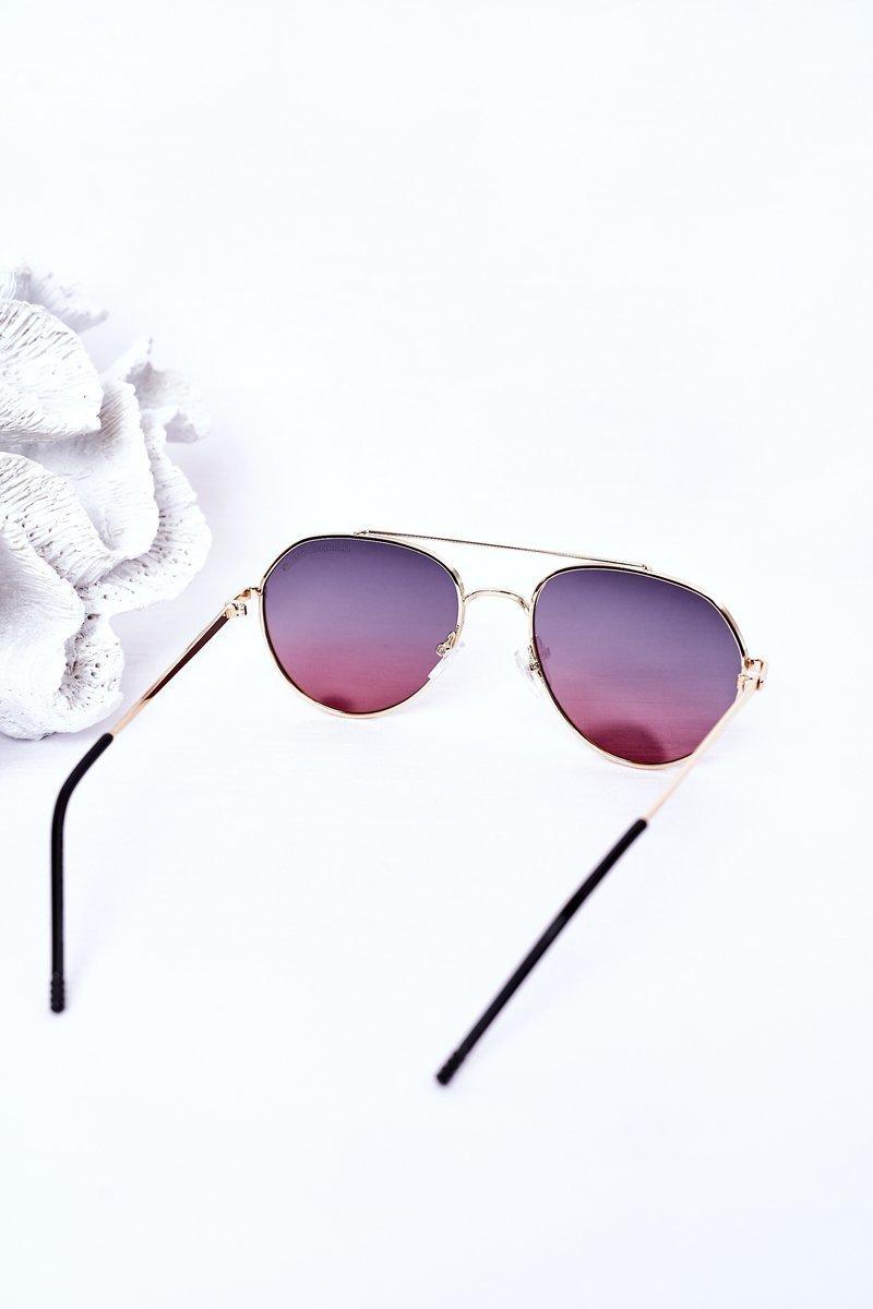 Polarized Sunglasses Aviator Black-Pink Ombre
