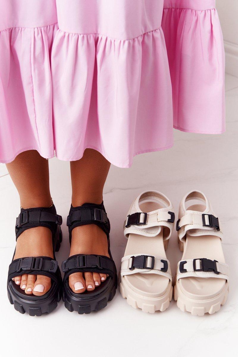 Sandals On A Chunky Platform Black Fly High