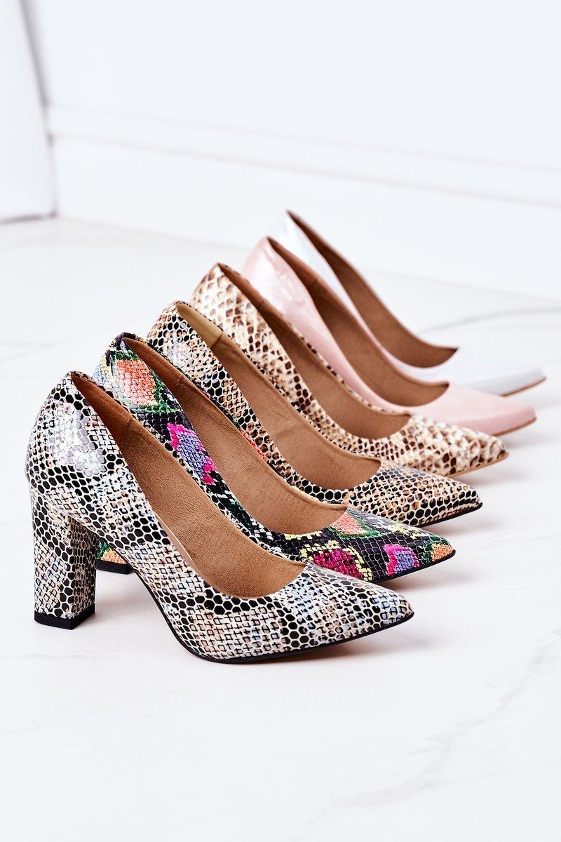 Satin Pumps Lewski Shoes 2453 Pink