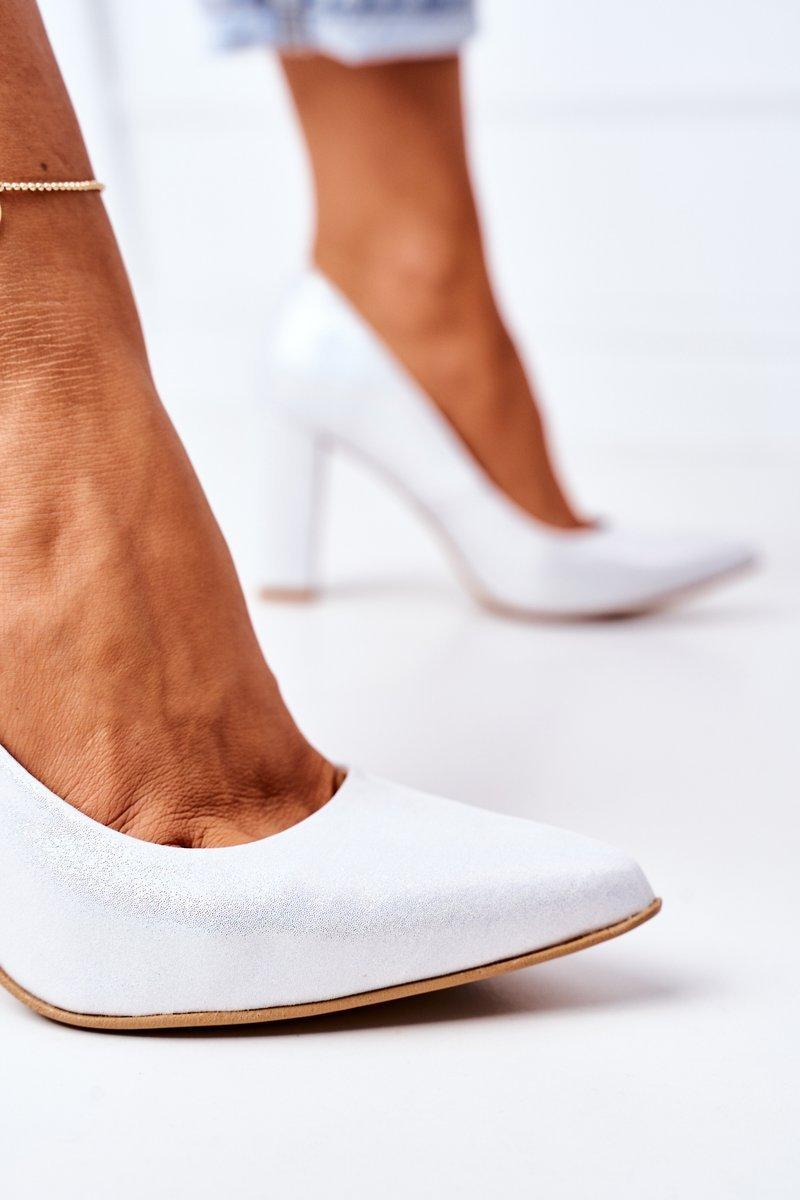 Satin Pumps Lewski Shoes 2453 Silver