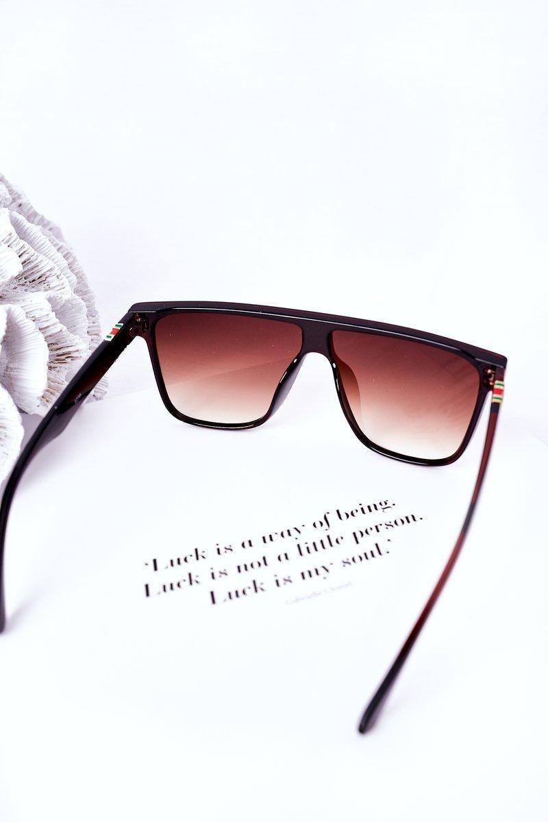 Shield Sunglasses VINCENT Dark Brown  Ombre