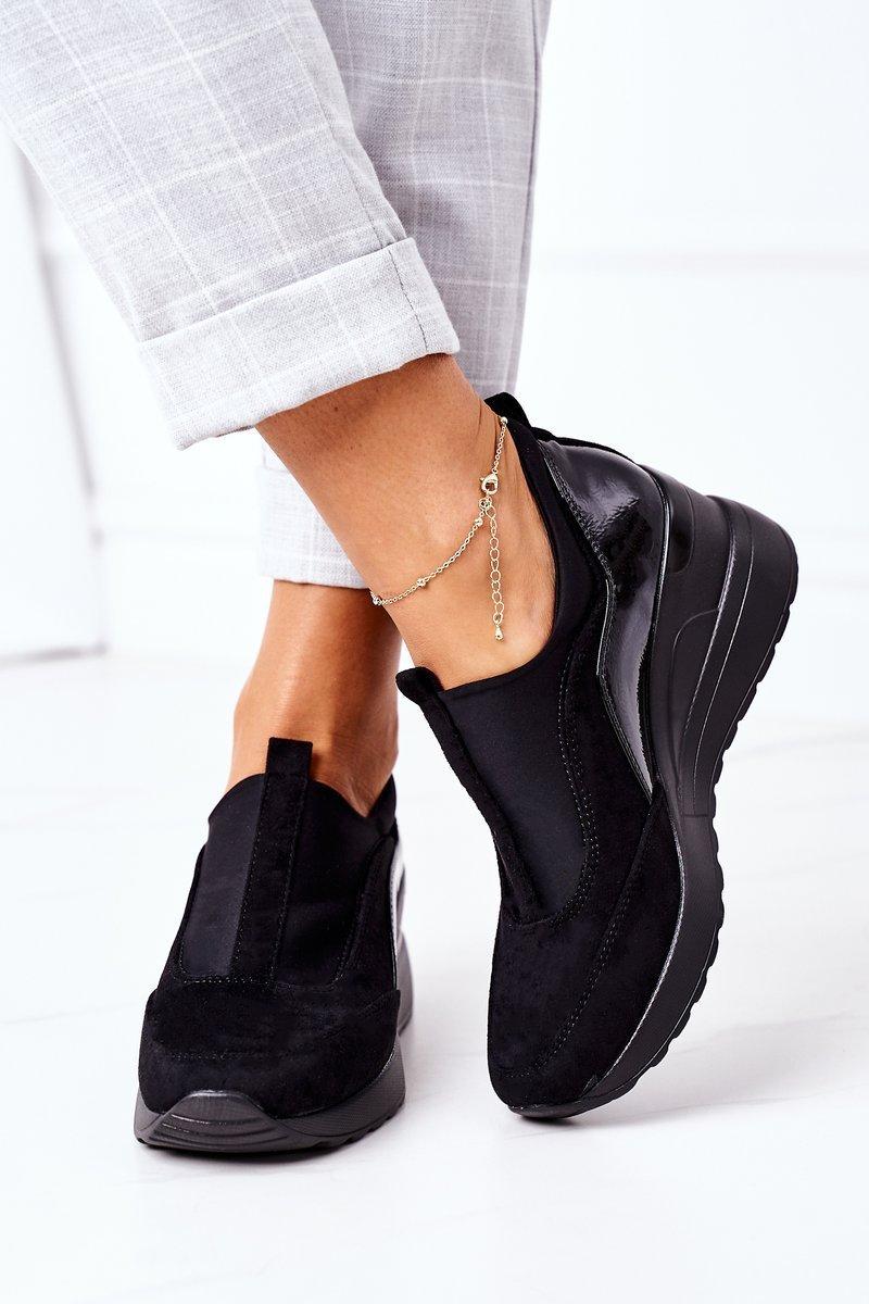 Slip-On Wedge Sneakers Vinceza 10593 Black