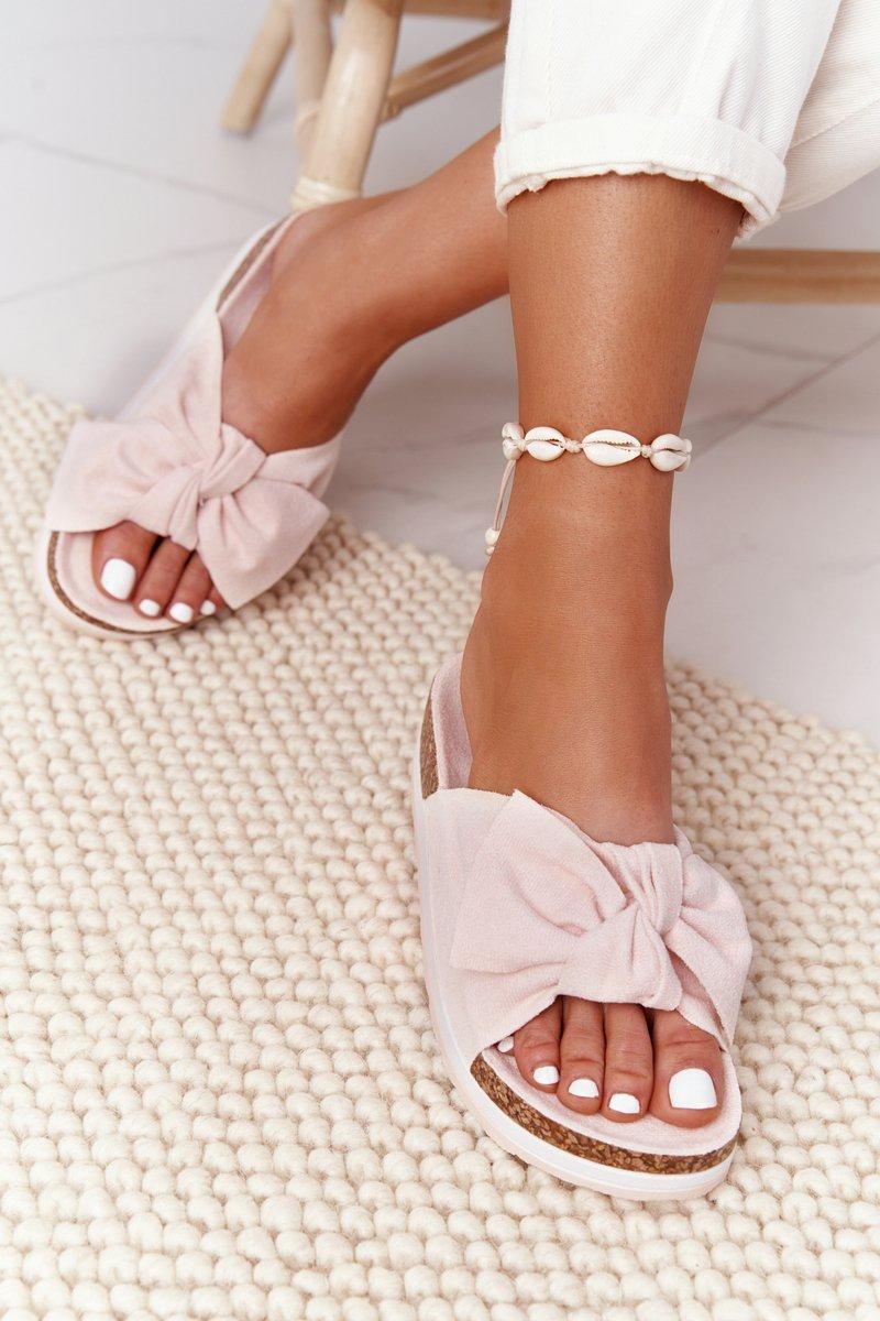 Slippers On A Platform Beige So Comfy
