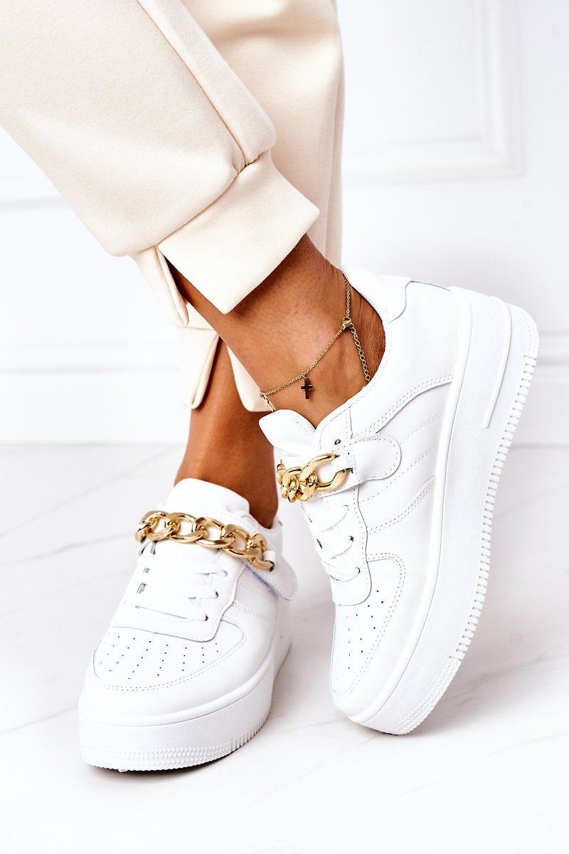 Sport Shoes Sneakers With A Chain White One Chance