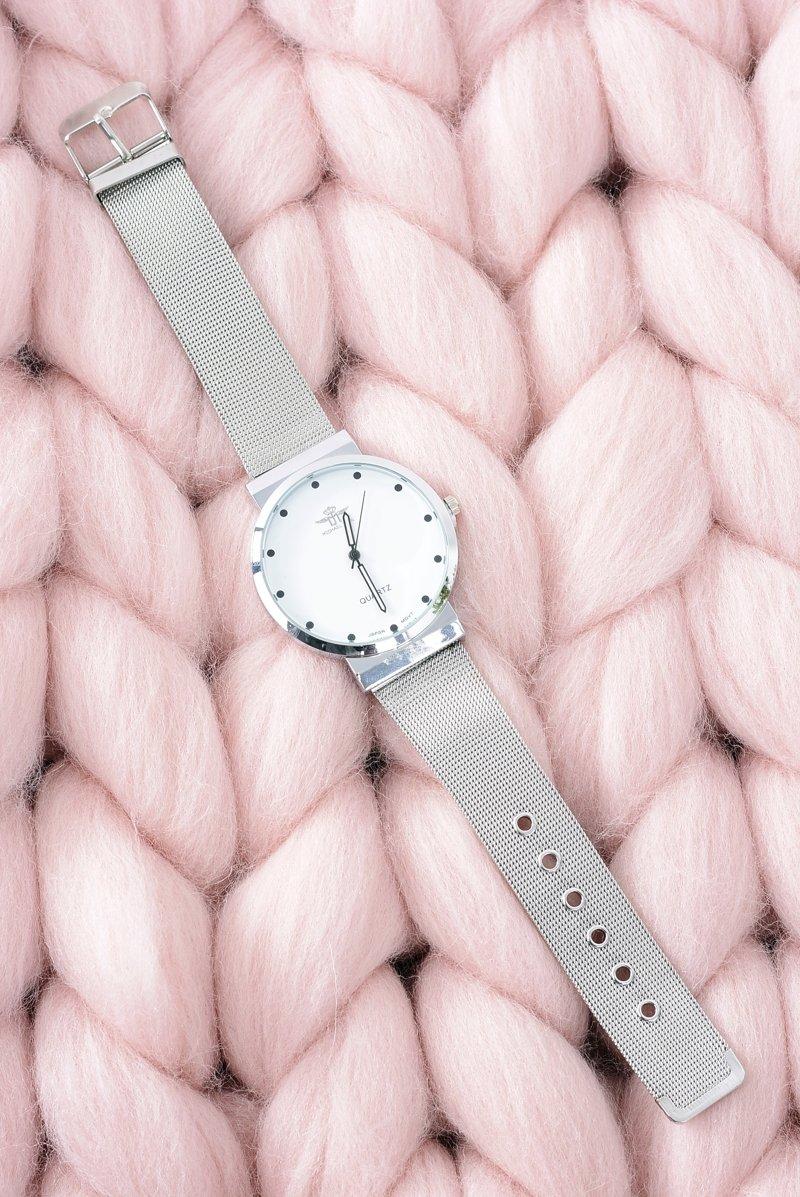 Srebrny Elegancki Damski Zegarek Michael John