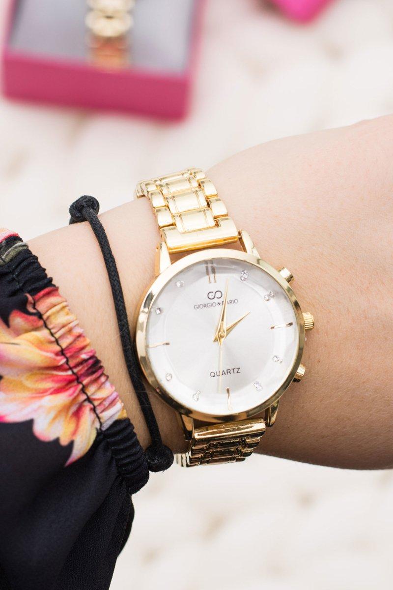 Stylish Gold Women Watch with Giorgio & Dario Bracelet