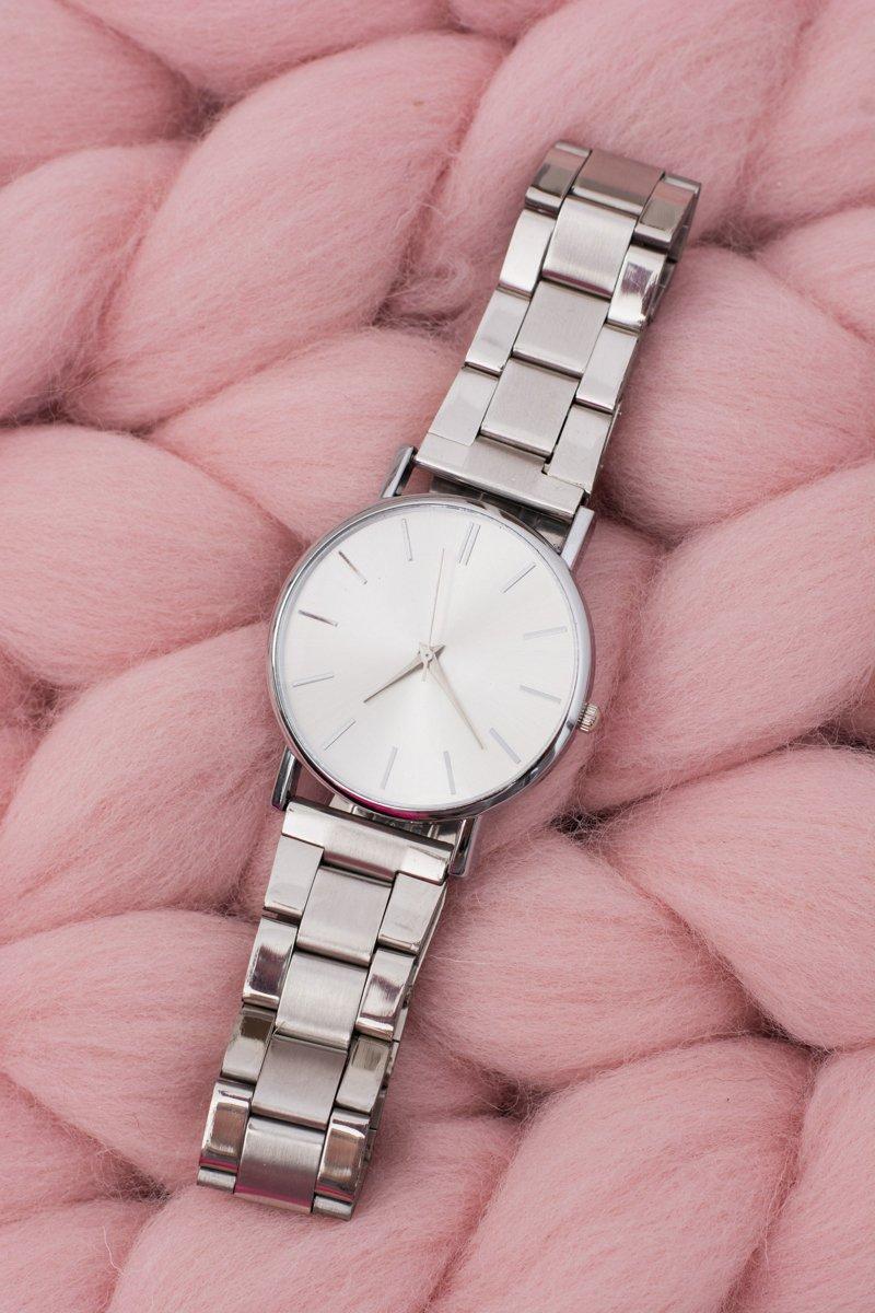 Stylish Silver Women Watch with Bracelet