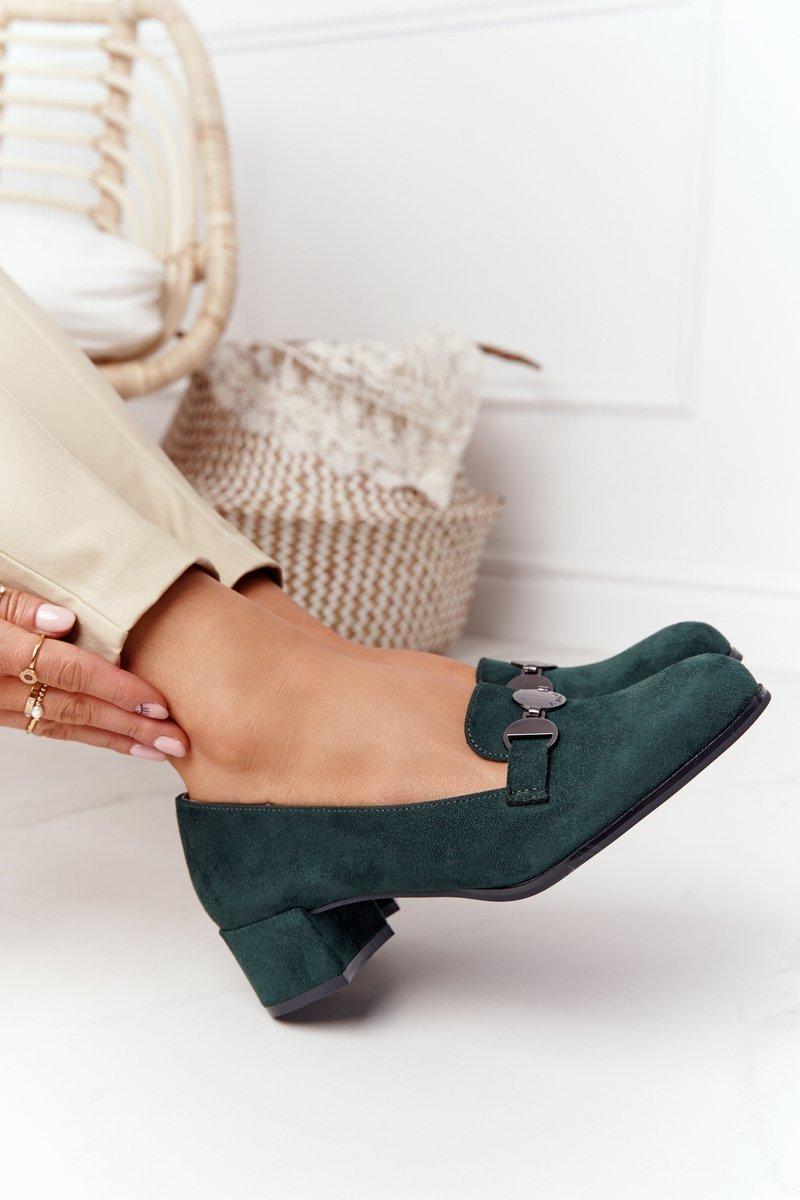 Suede High-Heeld Shoes Sergio Leone PB148 Green