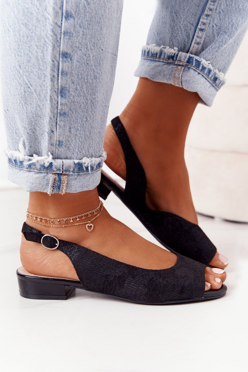 Suede Sandals Sergio Leone SK807 Black