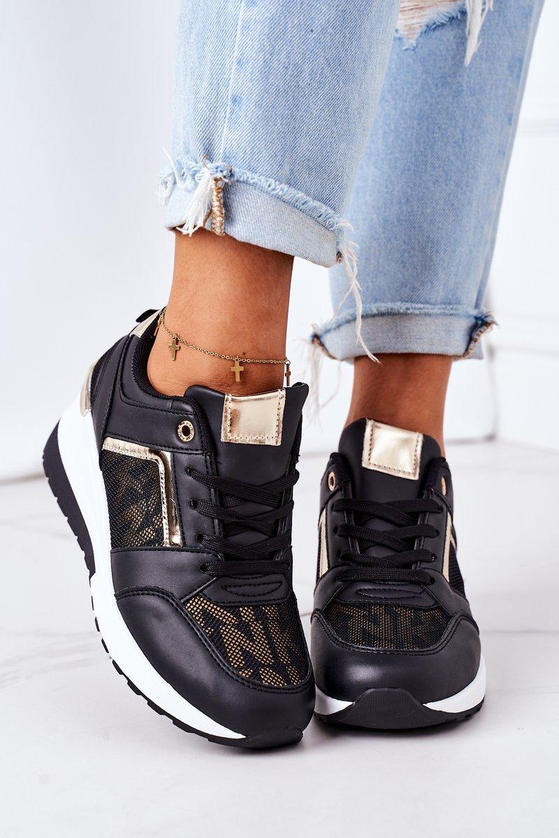 Wedge Sneakers Black Weekend