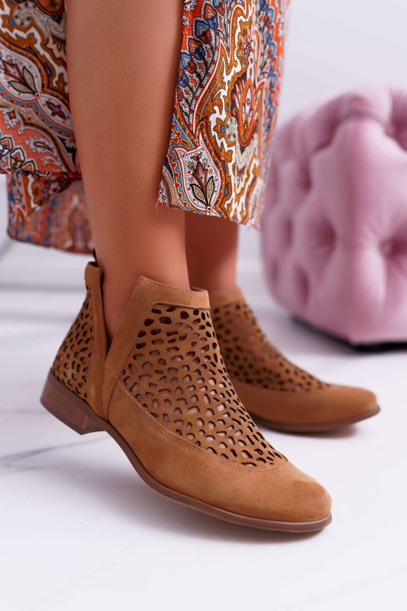 Women's Boots Spring Cowgirl Camel 2366 Draw