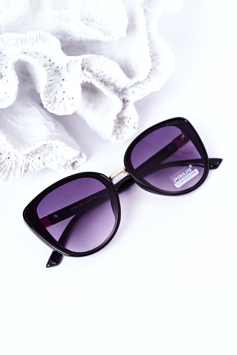 Women's Butterfly Sunglasses Black With Graphite Ombre