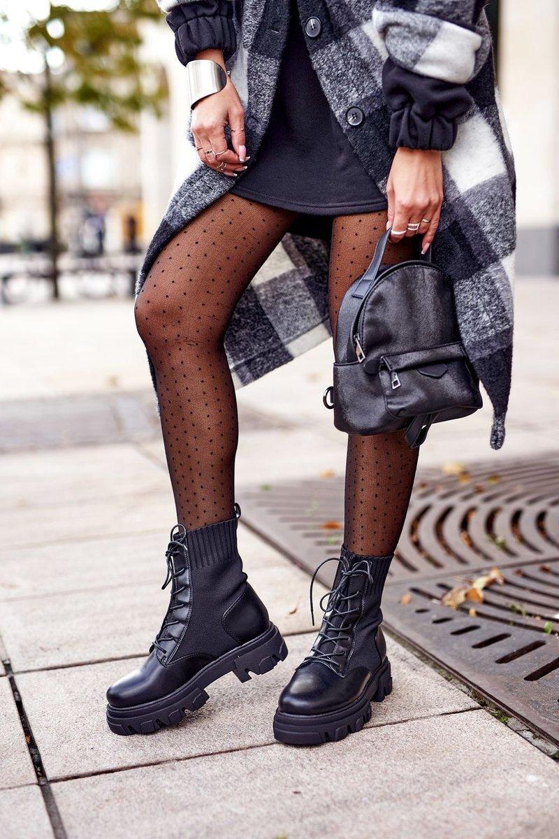 Women's Platform Boots Black Megan