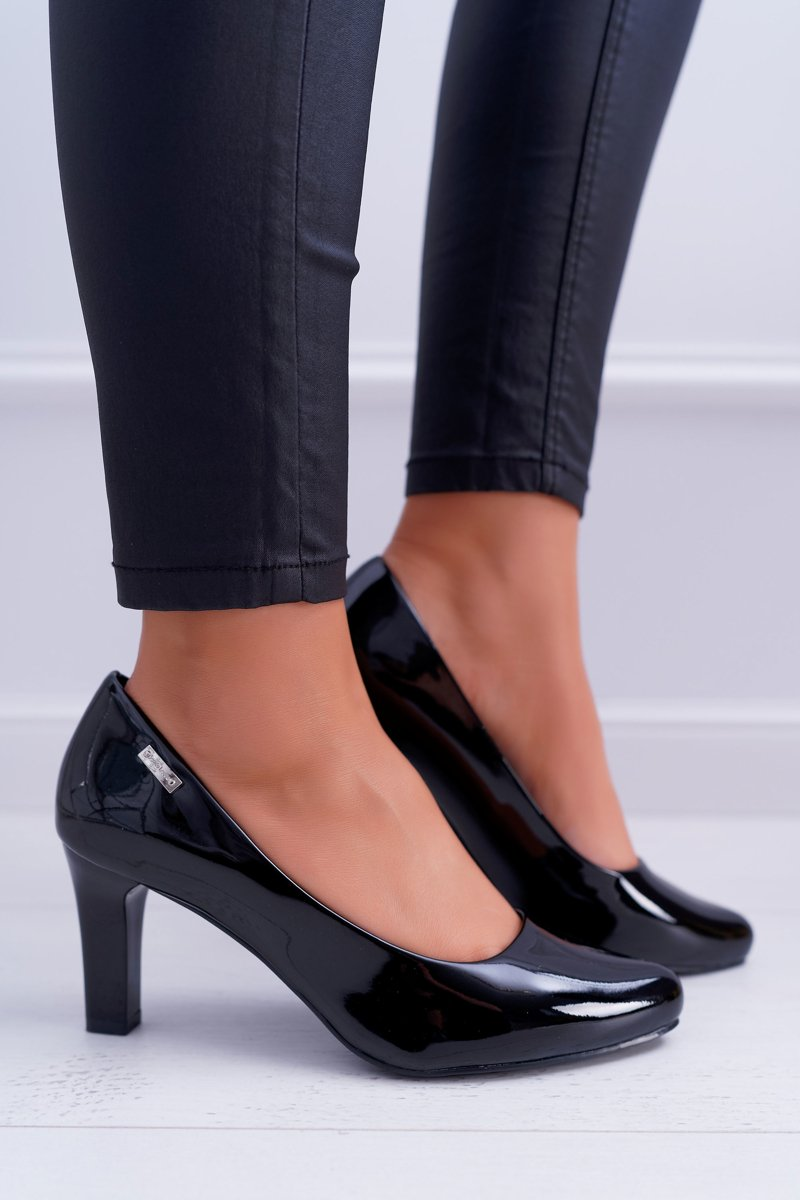 Women's Pumps Sergio Leone Black Varnished Orsola