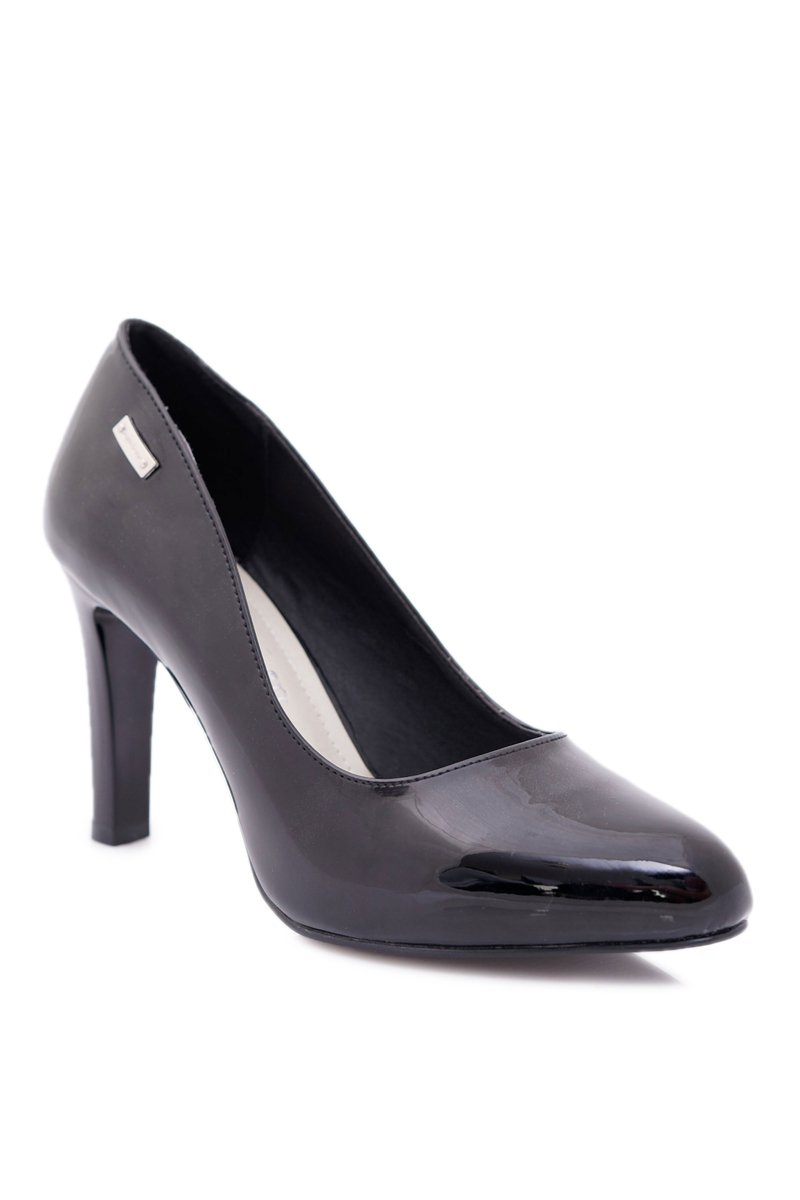 Women's Pumps Varnished Black Sergio Leone Campbell
