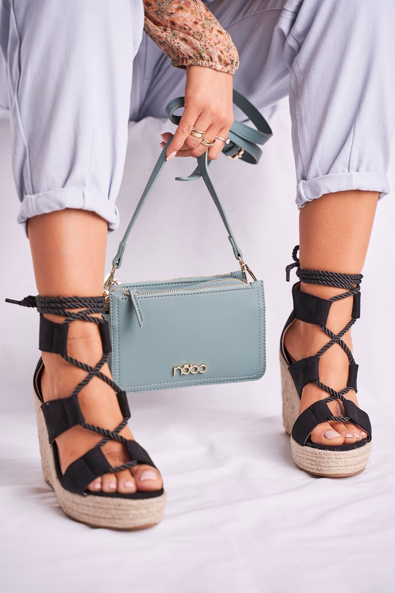 Women S Sandals Espadrilles Suede Black Beautiful One Cheap And Fashionable Shoes At Butosklep Pl