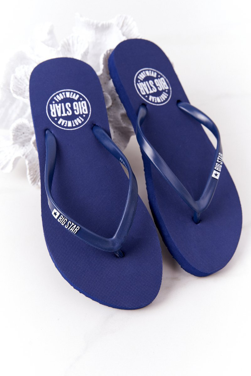 Women's Sliders Flip-Flops Big Star FF274A614 Navy