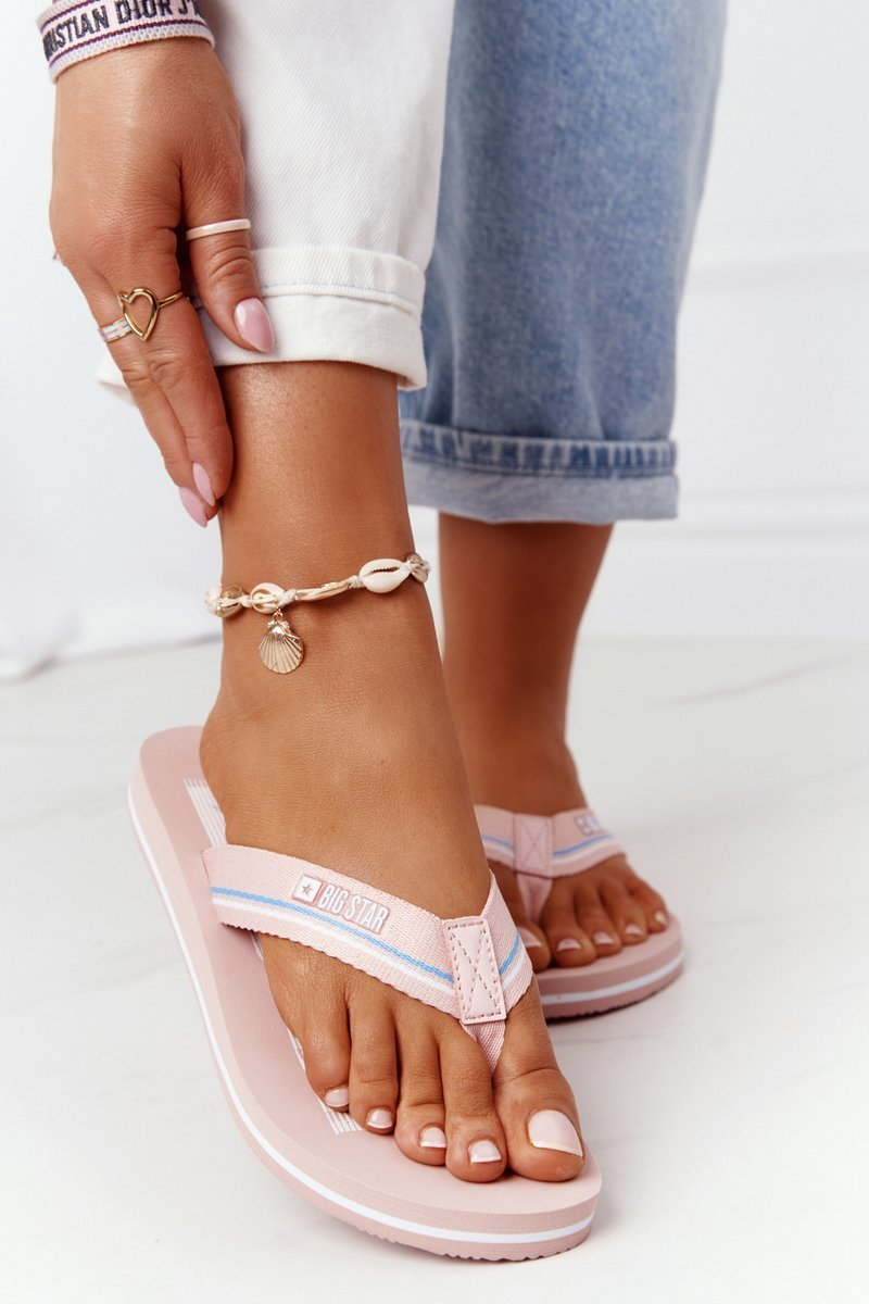 Women's Sliders Flip-Flops Big Star HH274A060 Pink