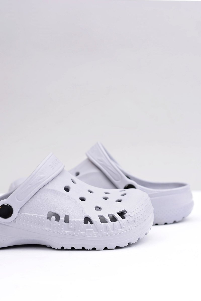 Women's Slides Crocs Grey Foam EVA