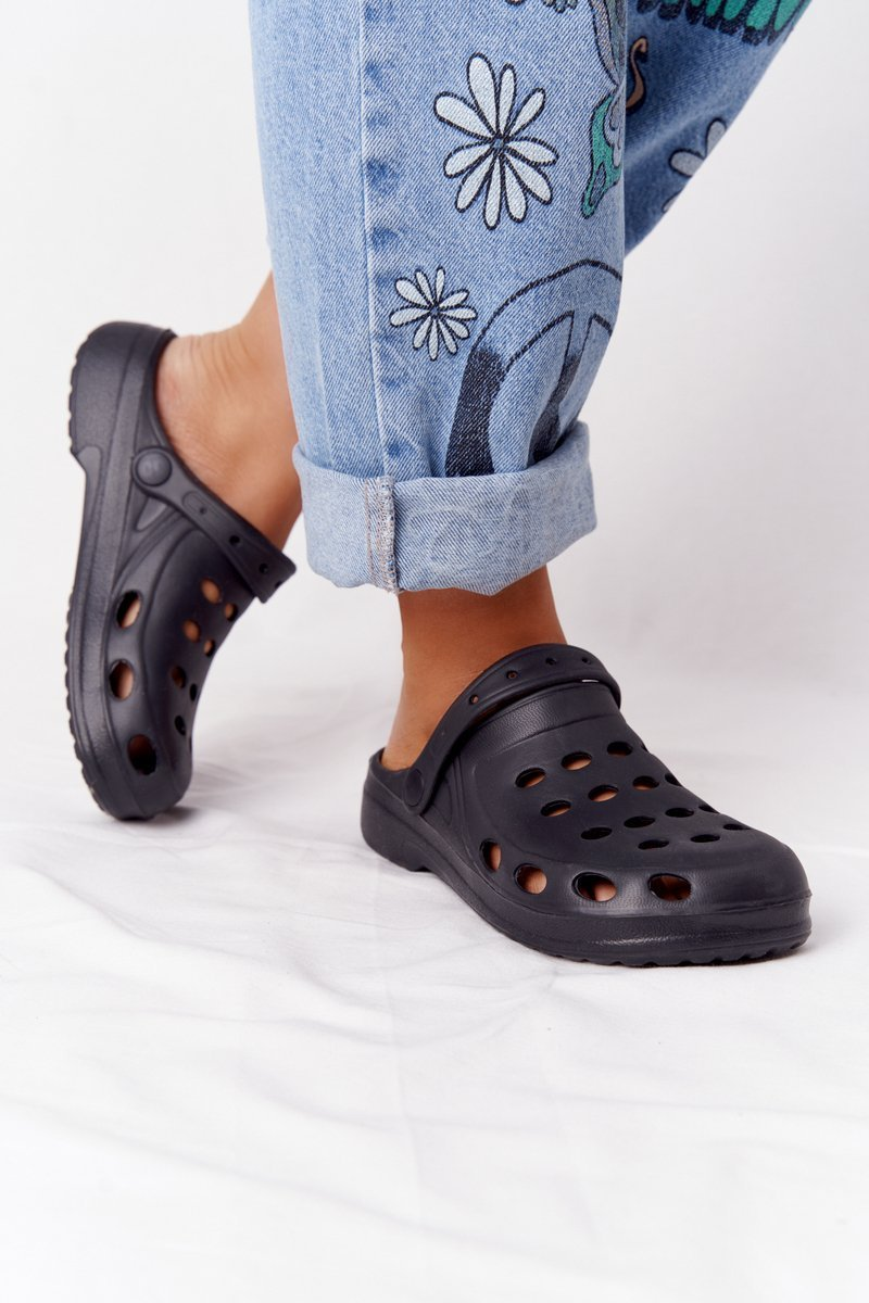 Women's Slides Foam Black Crocs EVA
