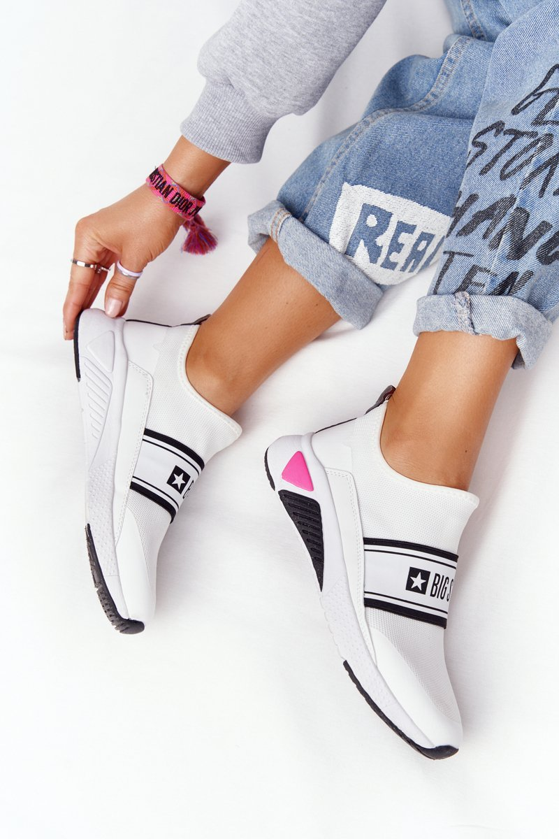 Women's Slip-On Sneakers Memory Foam Big Star HH274538 White