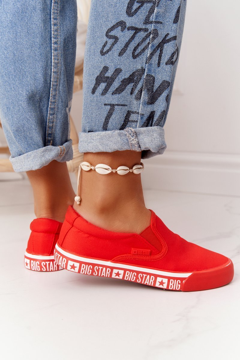 Women's Slip-on Sneakers Big Star HH274010 Red