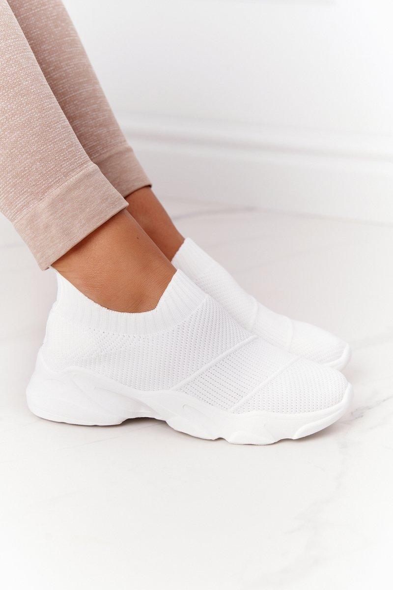 Women's Slip-on Sneakers White Yoga Class