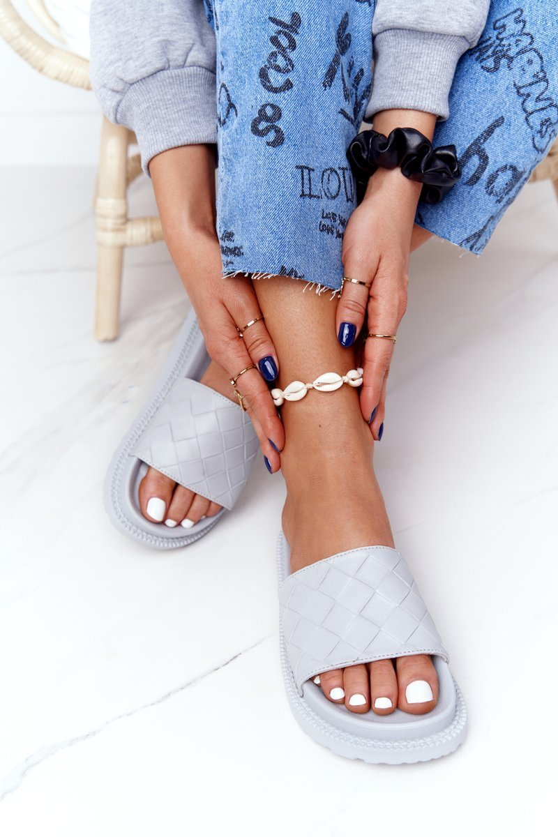 Women's Slippers On A Platform Big Star HH274688 Grey