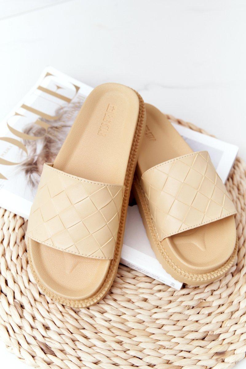 Women's Slippers On A Platform Big Star HH274689 Yellow