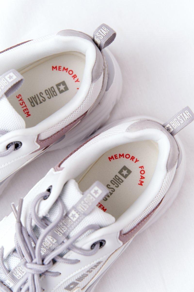 Women's Sneakers Memory Foam Big Star HH274255 White-Purple