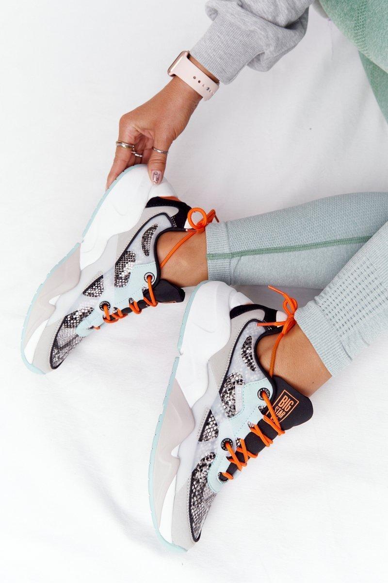 Women's Sneakers Memory Foam Big Star HH274324 Grey-Green