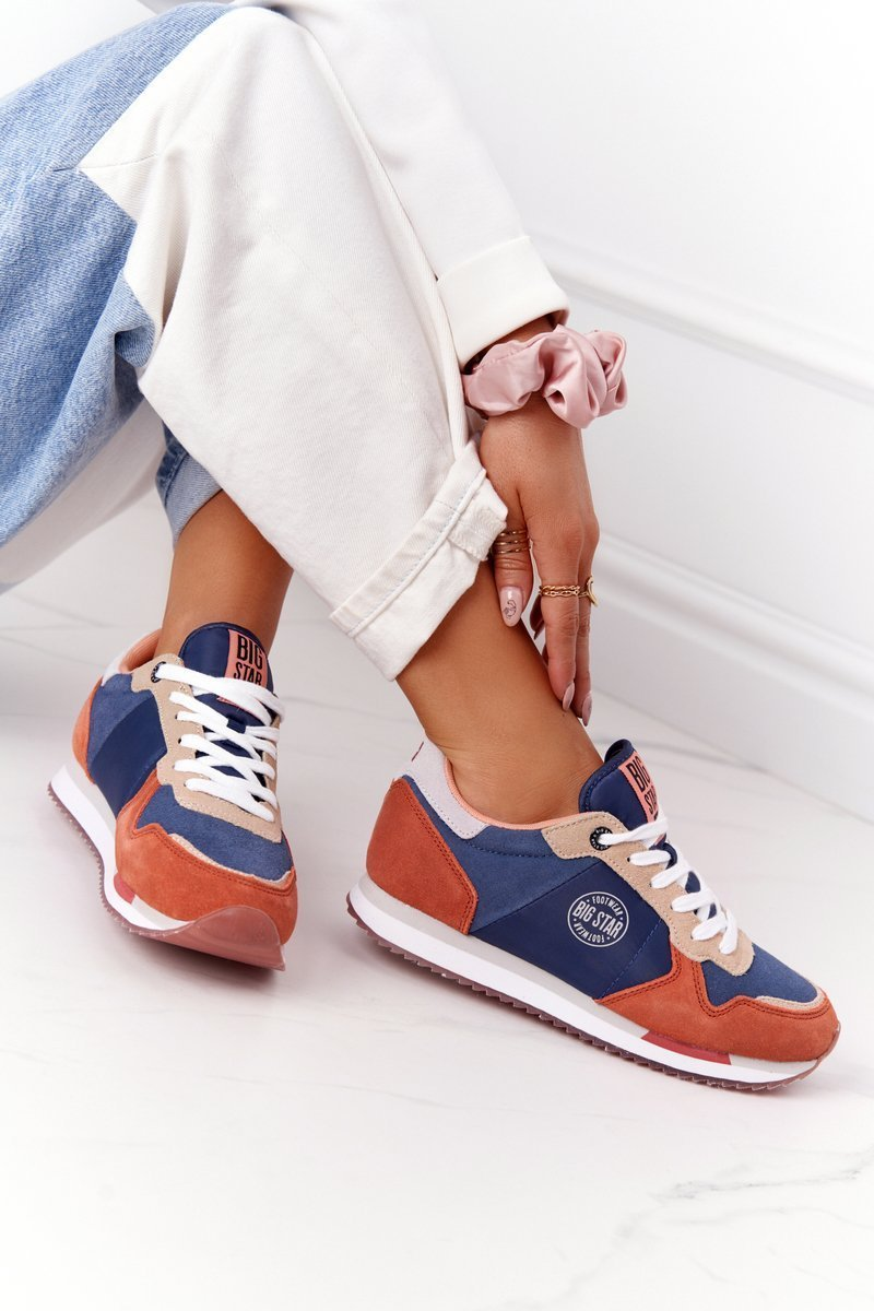 Women's Sneakers Memory Foam Big Star HH274567 Blue-Orange