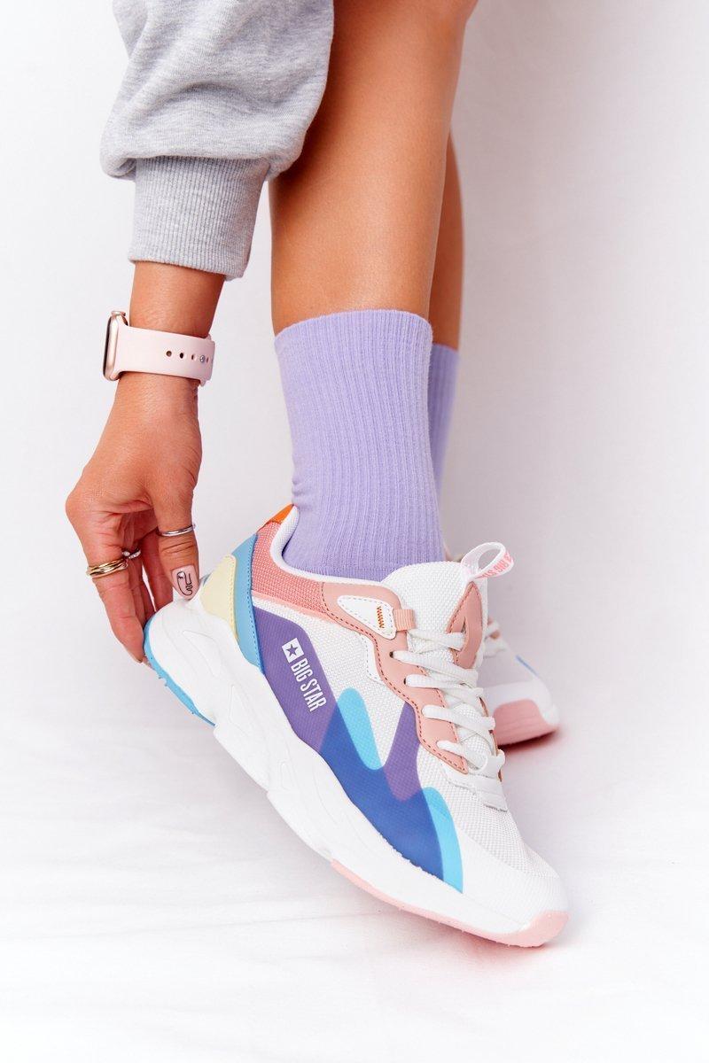 Women's Sneakers Memory Foam Big Star HH274809 White-Pink