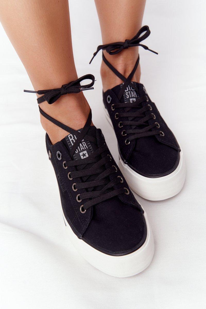 Women's Sneakers On A Platform BIG STAR HH274056 Black