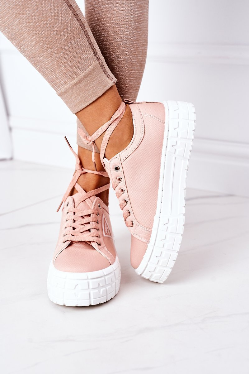 Women's Sneakers On A Platform Pink Big City Life