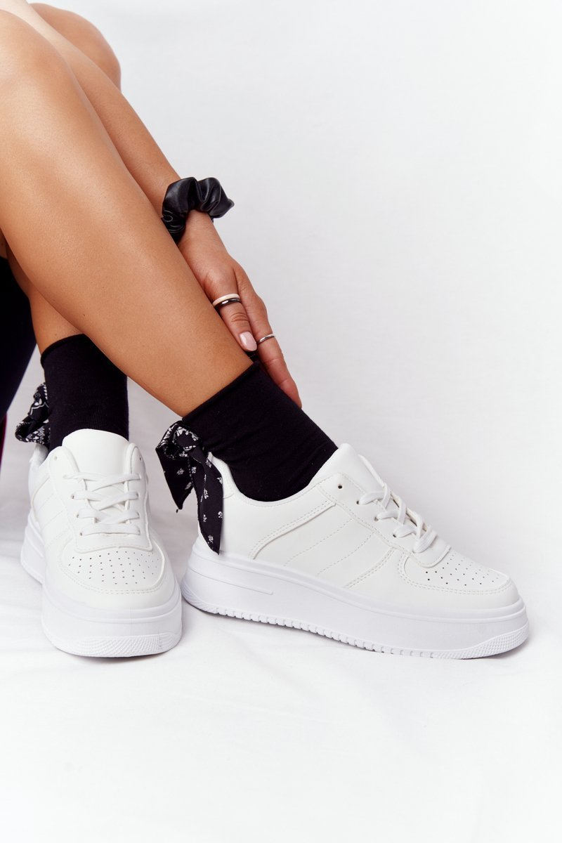 Women's Sport Shoes On A Platform White This Is Me
