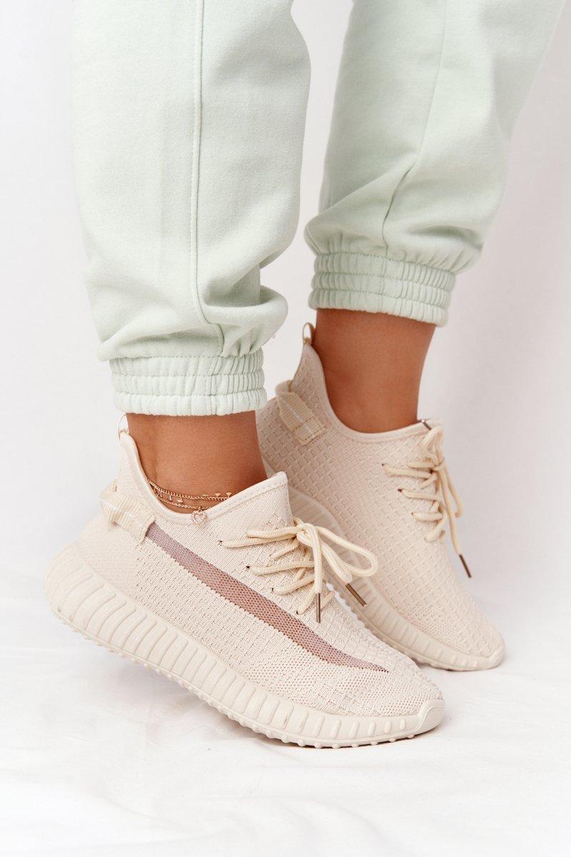 Women's Sport Shoes Sneakers Beige Amazing