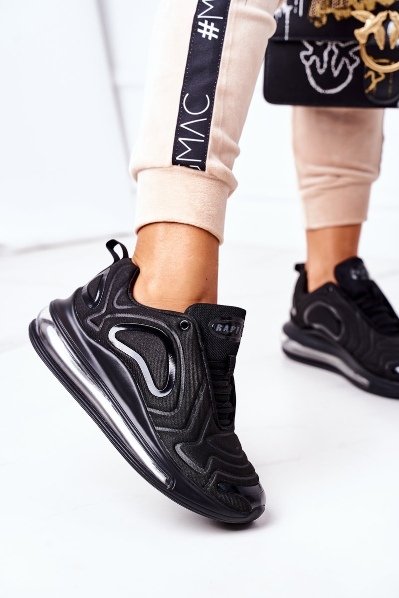 Women's Sport Shoes Sneakers Black Rapter