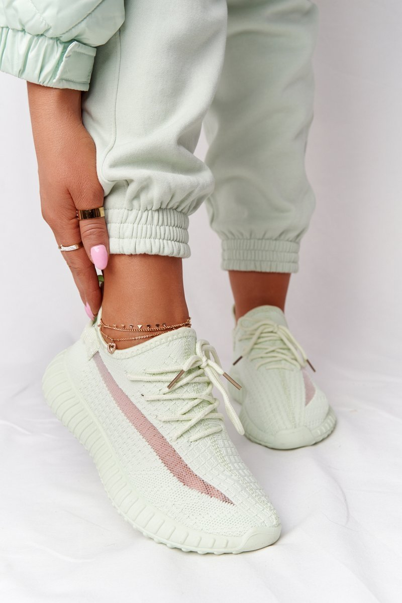 Women's Sport Shoes Sneakers Light Green Amazing