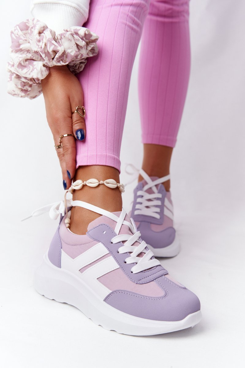 Women's Sport Shoes Sneakers Purple Holiday