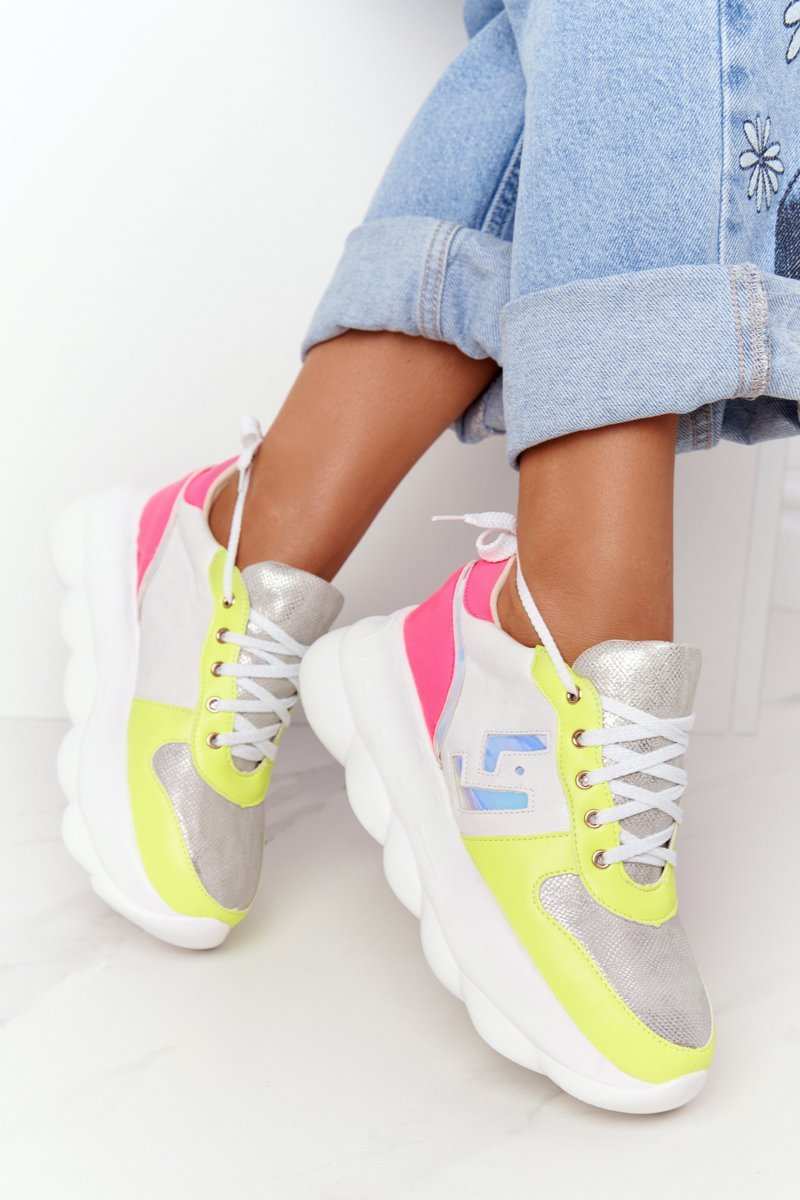 Women's Sports Shoes On The Platform Lu Boo White