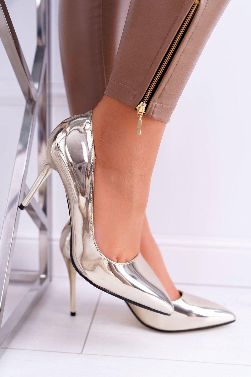 Women's Stilettos Lu Boo Mirrored Gold Lanthe